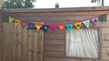 Happy Birthday Felt  Bunting  - Banner - Party - Handmade