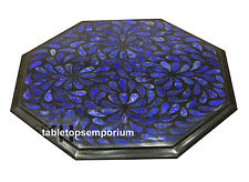 Marble Center Coffee Table Top Lapis Inlay Handmade Work For Home Decor Mosaic