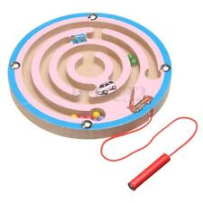 Round Wooden Children Brain Maze Board Game Puzzle Toys Educational Labyrinth