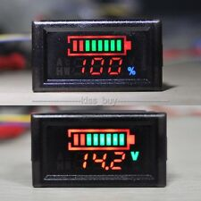12v 24V 48 72v Acid lead Battery indicator capacity LED Tester digital voltmeter