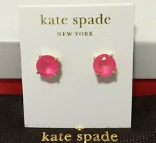 NEW Kate Spade NY Gum Drop Vividsnap Pink Stud Earrings + KS dust bag