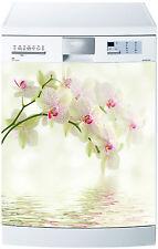 Sticker lave vaisselle déco cuisine électroménager Orchidées réf 623 60x60cm