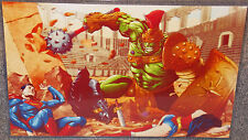 Planet Hulk vs The Justice League Glossy Print 11 x 17 In Hard Plastic Sleeve