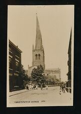 Derbyshire Derbys CHESTERFIELD Church + local children c1900/10s? RP PPC