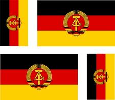 4x sticker Adesivo Adesivi decal Vinyl auto moto bandiera germania tedesca DDR
