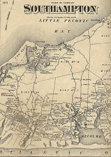 Southampton  NY 1873  Maps with Homeowners Names Shown    3 Map Set