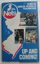 1980-81 New Jersey Nets Basketball Media Guide & Yearbook; nice blue cover