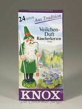 KNOX German Incense for Smoker Rauchermann Raucherkerzen Violet Scent 2 BOXES