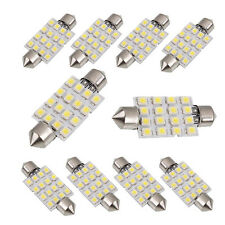 10X white 42mm 16SMD Car LED Festoon Dome Map Interior Cargo Light Bulbs 211 578