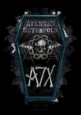 "AVENGED SEVENFOLD AUFKLEBER / STICKER # 13 ""COFFIN"""