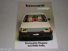 Pubblicità AUTO prospetto foglio Leyland Innocenti Mille, stand 01/1981