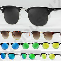 Clubmaster Sunglasses Polarized and Classic Mirror lenses Mens Womens UV400