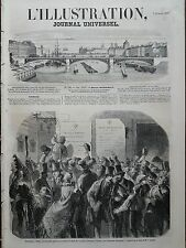 L'ILLUSTRATION 1857 N 728 AMNISTIE ACCORDEE AUX SUJETS DU ROYAUME LOMBARDO -VENI