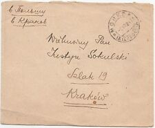 1924 RUSSIA MOSCOW POLAND KRAKOW COVER WORKERS MIXED FRANKING RARE !