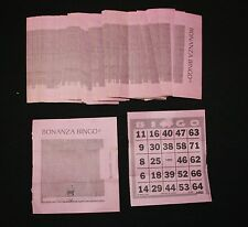 BINGO PAPER Cards 1 on BONANZA Tear Open 150 FREE SHIPPING  no duplicates
