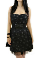 Sourpuss Tangled Web Dress gothic punk spider SIZE S