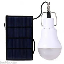 Portable Solar Panel Power LED Bulb Lamp Outdoor Camp Tent Fishing Light 15W 5V