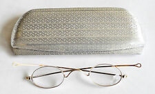 Antique solid 14k gold hallmarked eyeglasses with aluminum case
