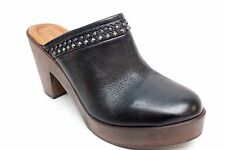 Trask Women's Reese Studded Leather Clog in Black Size 10M