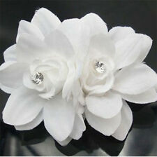 1PCS White Women Bridal Crystal Calla Flower Hair Pin Hair Clip Accessories