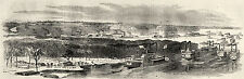 Fort Wright Tennessee TN Gun Boats Mortar Fleet Mississippi River 1862 Print
