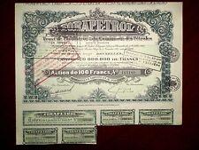 FORAPETROL  Belgo - Romanian Oil share certificate 1927