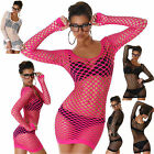 NEW SEXY WOMEN CLUBBING TOP FISHNET SHIRTS LADIES PARTY BLOUSE SIZE 6 8 10 12 S