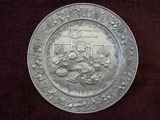 Hallmark Mary Hamilton Pewter Plate Come Home To Christmas 1985 (cp5)