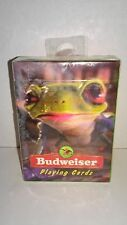Vintage 1996 Anheuser-Busch Budweiser Frog Playing Cards SEALED Made in USA #383