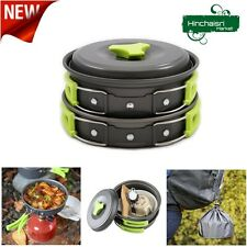 Camping Cookware Hiking Outdoors Compact Durable Picnic Mess Kit Equipment Pan