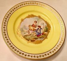 Antique Sevres Chateau de ST. CLOUD Plate  FIGURAL COURTING SCENE HANDPAINTED