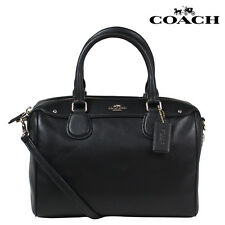 Coach F36624 Mini Bennett Satchel In Crossgrain Leather Black Bag