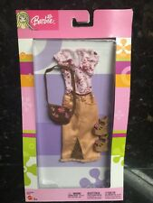 BARBIE DOLL CLOTHING OUTFIT Fashion Av New Long Skirt,flower Hip Style