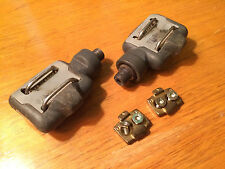 Vintage Carbon Time ATAC Clipless Pedals with cleats, low usage, butter bearings