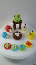 Handmade Edible Fondant Angry Birds -  Cake Topper Decoration