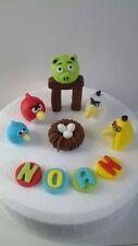 Handmade Edible Fondant Angry Birds -  Cake Topper Decoration
