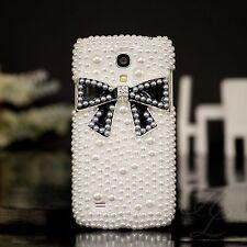 Samsung Galaxy S4 mini i9195 Hard Case Handy Schutz Hülle Etui Perlen Schwarz