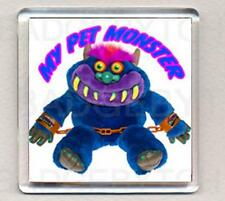 MY PET MONSTER square fridge magnet - RETRO COOL !