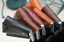 CLUBSHIELDS - BROWN PRO LEATHER GOLF IRON HEADCOVERS -$16.00 each cover