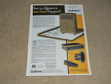 Electro-Voice 1956 Speaker Ad, 1 page, E-V Centurion, Model 105, A20CL