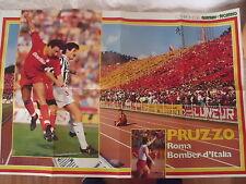 POSTER CALCIO ANNI '70 PRUZZO A.S. ROMA  ALTOBELLI INTER F.C.  GUERIN SPORTIVO