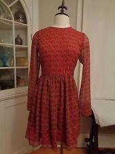 IKKS party dress women's size EU 36  US 4 NWT Vermillion metallic thread