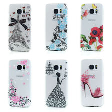 Lot/6 Crystle Clear Design TPU Gummy Case For Samsung Galaxy S7 Wholesale