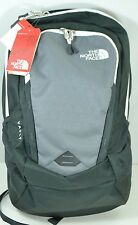 "The North Face Vault Backpack Gray Grey White Mens 15"" Laptop Sleeve NWT"