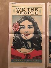 SHEPARD FAIREY WE THE PEOPLE DEFEND DIGNITY USA TODAY NEWSPAPER ART PRINT POSTER