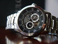 Bulova 96A119 MEN'S SS Dual Aperture Dial Automatic Watch **RRP £349.00**