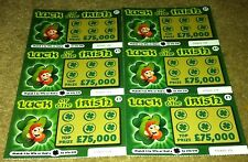 6 Fake Joke Lottery Scratch Cards Realistic Tickets Boys Girls Present Halloween
