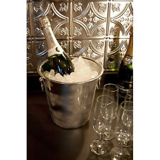Stainless Steel Table Top Wine or Champagne Bucket - Party Ice Holder - Drinks
