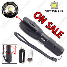 On Sale ~ 2000LM E17 CREE XM-L2 U3 5M Zoom LED Flashlight Torch (1x18650/3xAAA)