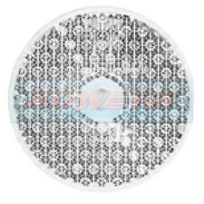FRONT WHITE CLEAR SCREW OR STICK ON REFLECTOR 60mm ROUND FOR GATE POST CARAVAN